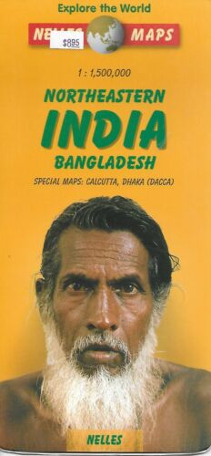 Map of Northeastern India & Bangladesh, by Nelles Maps