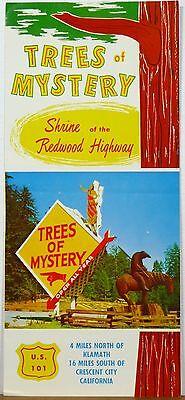 1950's early 60's Trees of Mystery Klamath Crescent City California brochure b