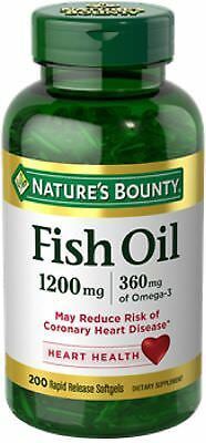 Nature's Bounty Fish Oil, 1200mg, Softgels 200 ea