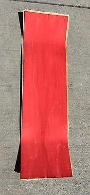 Skateboard pressing uncut concave blank RASTA 7ply pressed veneer 10x35 D32