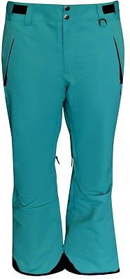 - New Snow Country Outerwear Women's 1X Plus Size Short Petite Ski Pants Teal