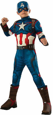 Avengers Age Of Ultron Captain America Costume (Avengers 2 - Age of Ultron: Deluxe Captain America Costume For Kids -)