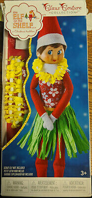 1 ELF ON THE SHELF CLAUS COUTURE GIRLS OUTFIT ONLY HOLIDAY HULA WEAR SKIRT & LEI ()