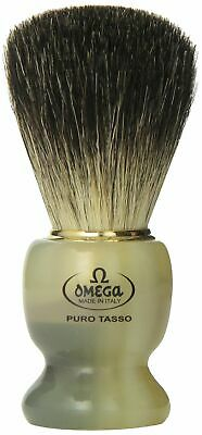 Omega 63171 Stripey 100% Pure Badger Shaving Brush with Stand Badger Brush Stand