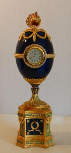 RARE BEAUTIFUL VIVIAN ALEXANDER CHANTICLEER EGG CLOCK
