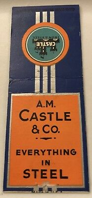Old Matchbook Cover A M  Castle   Co  Everything In Steel