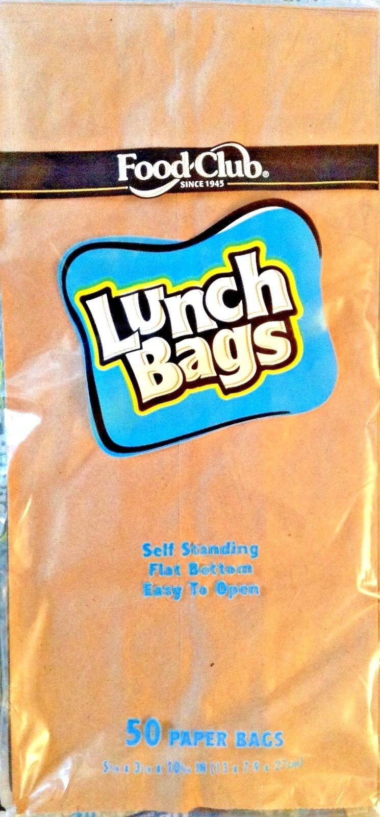 Brown Paper Lunch Bags 50 , Snack Bags, Kraft Paper Merchandise / Grocery bags