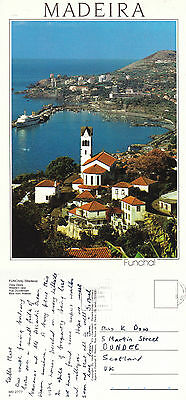1990's WESTERN VIEW FUNCHAL MADEIRA PORTUGAL COLOUR POSTCARD