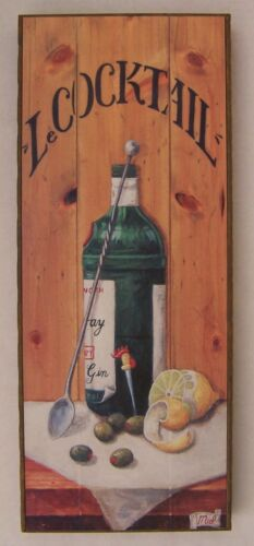 """Tanqueray """"Le Cocktail"""" Printed Canvas Bar Sign"""