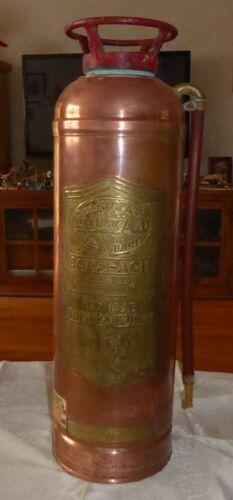 Vintage Empty Brass / Copper Fire Extinguisher