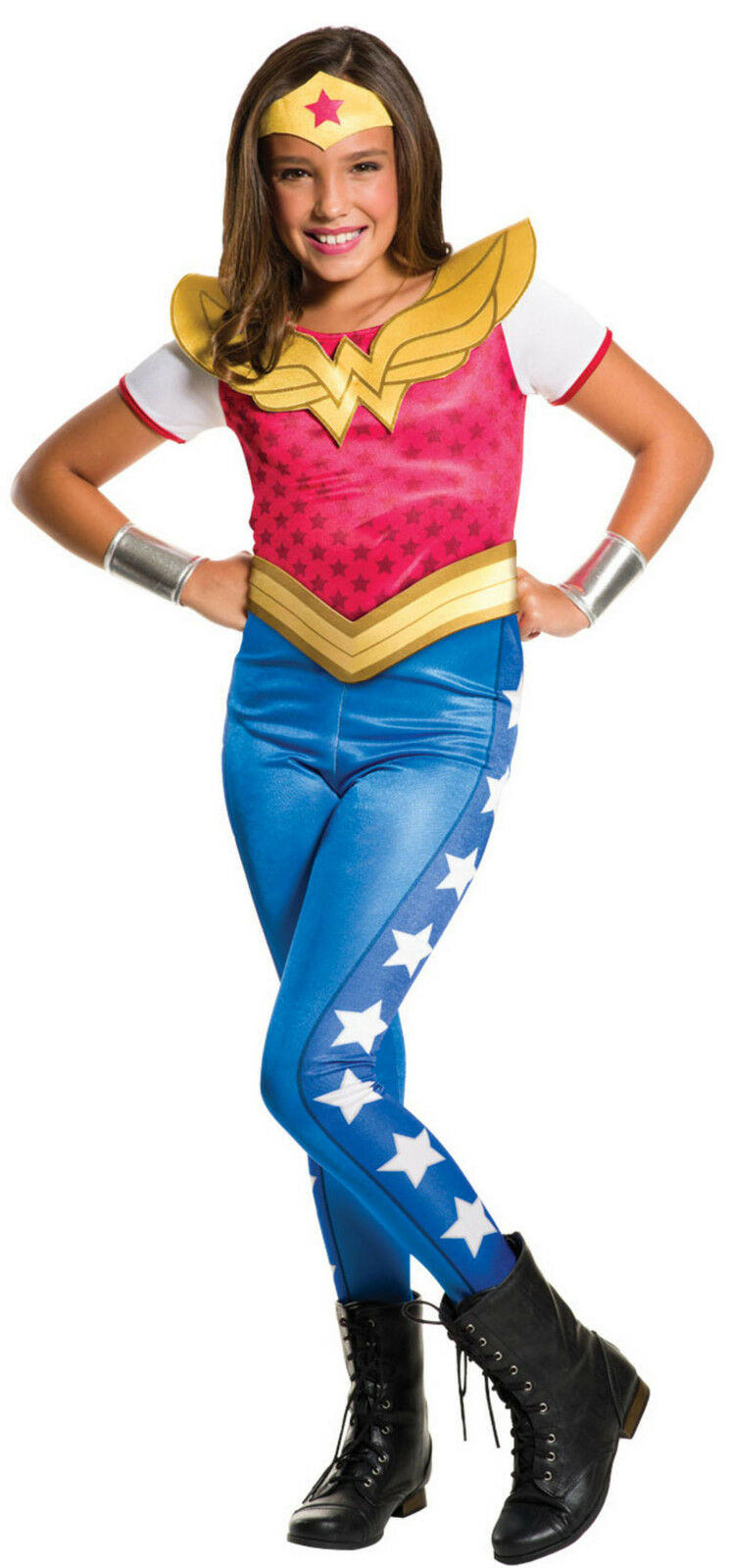 negozio ufficiale nuovo prodotto migliore qualità Details about Girls Wonder Woman Superhero Comic Book Day Week Fancy Dress  Costume Outfit 3-10