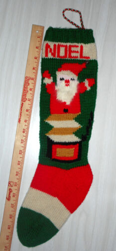 Personalized Hand Knit Christmas Stockings - Santa Jack-In-The-Box - LEFT TOE