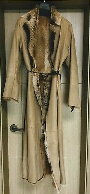 Karl Donoghue Genuine Goat Skin Long Coat in Natural Size S