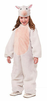 Kids Plush Sheep Lamb Costume Zoo Barnyard Animal Nativity Child Size Md 8-10