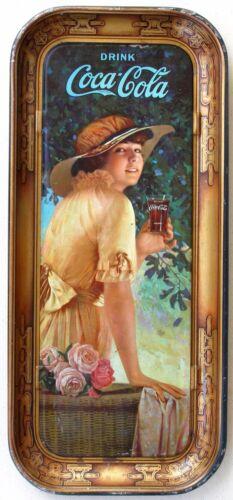 Long Coca Cola Elaine Tray, 1916.