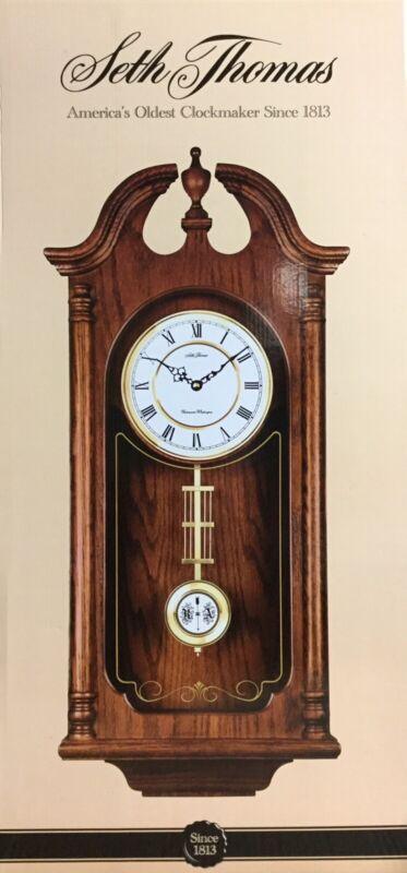 Seth Thomas Whitley Colonial Wall Clock WOK-7080 New In Box