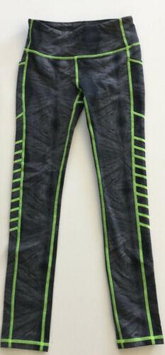 Jo+Jax Dancewear Black Diamond/Neon Green Harley Leggings Youth Large