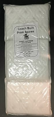 DELUXE QUILTED PRAM SAFETY MATTRESS for Silver Cross Wilson Balmoral Twin Double ()