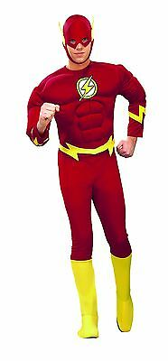 Cheap Men Halloween Costumes (Rubies Deluxe Flash Muscle Chest DC Comics Adult Mens Halloween Costume)