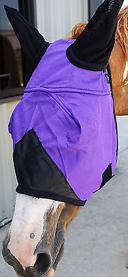 Equine Horse Fly Mask Summer Spring Airflow Mesh UV Mosquitoes  73247A
