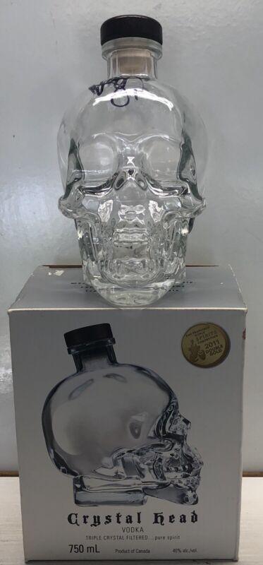 Crystal Head Vodka Bottle 750ml  W/Box Limited EdItion Signed By Dan Aykroyd
