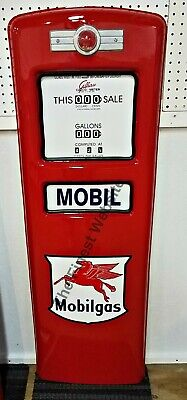 NEW MOBIL MOBILGAS GAS PUMP FRONT DOOR DISPLAY OIL REPLICA - FREE SHIPPING*