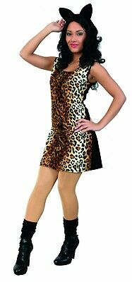 Kostüm Cat Katze Kleid Leopardenmuster Gangster Lady Raubkatze Karneval Fasching