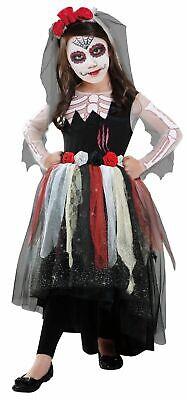 Dia De Los Muerto Day of The Dead Child Girls Halloween Costume Size Medium