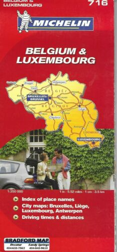 Michelin Map of Belgium & Luxembourg, Michelin Map # 716