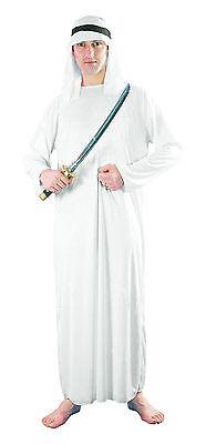 Mens White Arab Sark Fancy Dress Costume Saudi Arabia Dubai Party Outfit - Arabische Party Kostüm