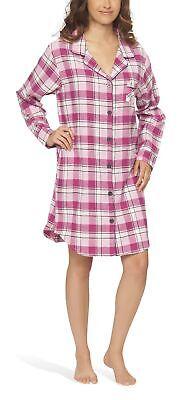 Flanell-nachthemd Kleid (Flanell-Nachthemd Nachtkleid Nachtwäsche Sleepshirt für Damen - Moonline)