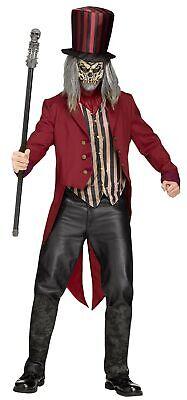 Freak Show Ring Master Adult Men's Halloween Costume Creepy Circus Standard Size