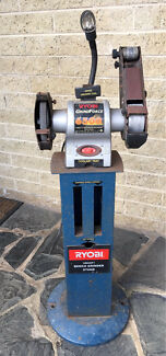 RYOBI Grinder and Linisher with a stand
