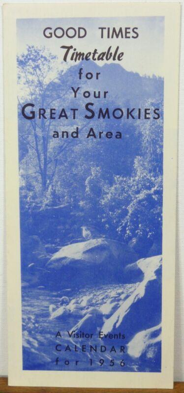 1956 Great Smokies Tennessee Smoky Skylift Gatlinburg vintage travel brochure b