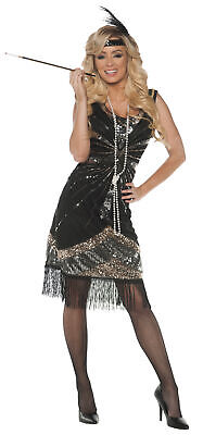 Roaring 20's Adult Women's Flapper Costume Black Cocktail Dress 1920s - Roaring 20's Women's Kostüm