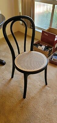 Grosfillex Black Retro Stacking Chairs Set Of 5