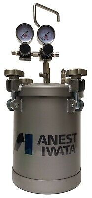Anest Iwata Pet-10 Pressure Tank 2 Gal Double Regulator Heavy Duty Commercial
