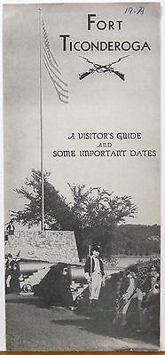 1950's Fort Ticonderoga New York Visitors Guide vintage brochure b