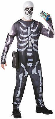 Skull Trooper Fortnite Computer Spiel Game Kinder Karneval Fasching Kostüm - Computer Spiele Kostüm