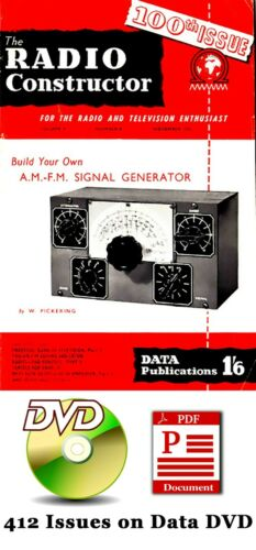 HUGE Radio Constructor Collection (412 PDF Magazines on Data DVD) 1947-1981