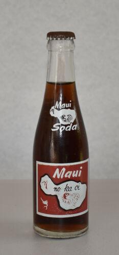 VINTAGE 1964 - 1966 MAUI SODA & ICE WORKS POP BOTTLE WAILUKU HAWAII NEVER OPENED