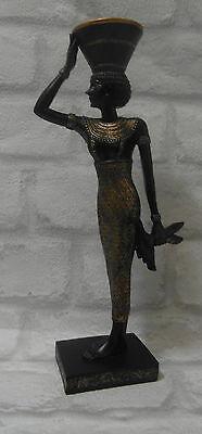 Kerzenhalter Ägypten  Figur  Goldf  schwarz Farbe  NEU   (Schwarze ägyptische Königinnen)