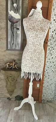 Nwt Female Body Dress Form Mannequin W Wooden Tripod Base Adjustable Height