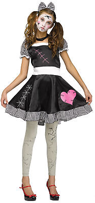 Funworld Broken Doll Junior Teen Scary Costume Halloween 100% Polyester Size 0-9 (Scary Broken Doll Costume)