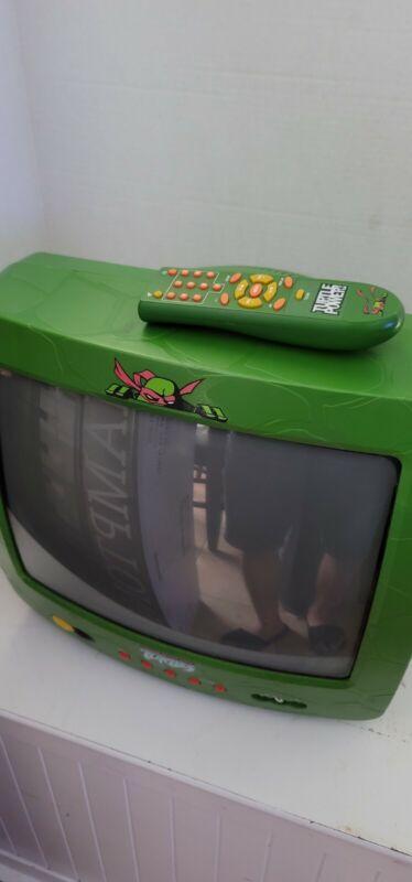 """Vintage TMNT Teenage Mutant Ninja Turtles 13"""" Retro Gaming CRT TV P3815NT"""