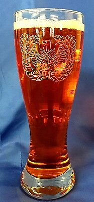 Etched Pilsner - US Army Warrant Officer Emblem custom etched 23oz pilsner set of 2