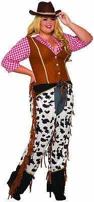 Western Cowgirl Rancher - Adult Plus Western Costume