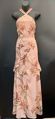 Hope & Ivy Beautiful Bird & Floral Print Maxi Dress Size 12
