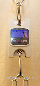 660 x 0.2 LB DIGITAL HANGING SCALE LUGGAGE WEIGHT PULLING TENSION CRANE FISHING