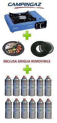 FORNELLO DA TAVOLO BISTRO CAMPINGAZ CON VALIGETTA + GRIGLIA + 12 CARTUCCIE A GAS